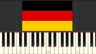 Deutschlandlied - German National Anthem [Piano Tutorial] (Synthesia)