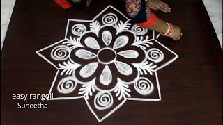 Amazing looking rangoli n kolam designs || Freehand muggulu