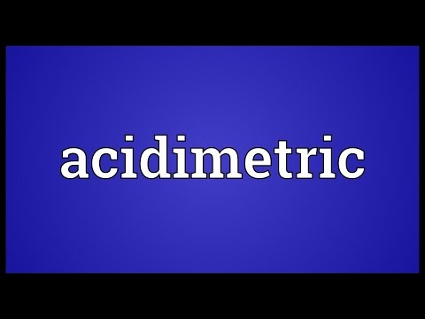 Header of acidimetric