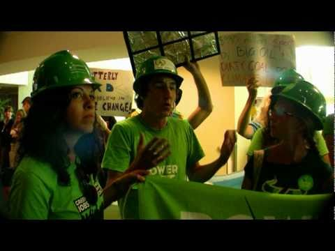 Crist - Rubio - Meek confront Climate Change Activists before the debate in Tampa Florida.