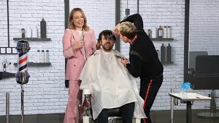 Olivia Wilde and Ellen Cut Jason Sudeikis' Hair