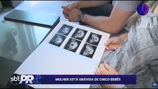 Mulher está grávida de cinco bebês no Chopinzinho - SBT Paraná (23/04/19)