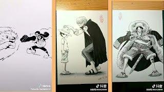 TIKTOK-China- Thánh vẽ truyện trên TIKTOK là Fan của ONE PIECE #3