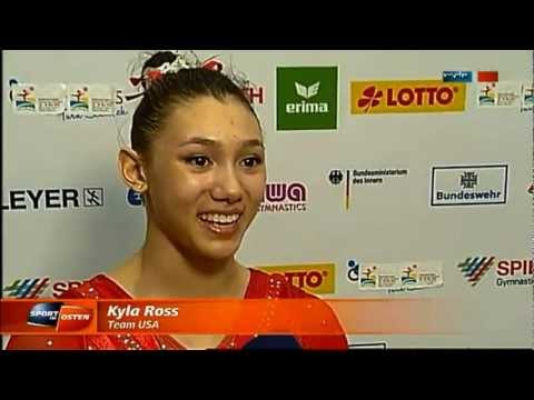 Highlights From Kyla Ross BB &amp; Simone Biles FX (Chemnitz 2013)