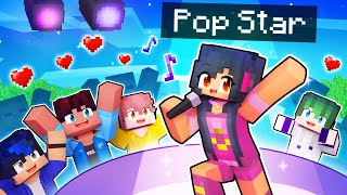 Playing as a SUPER POP STAR In Minecraft!