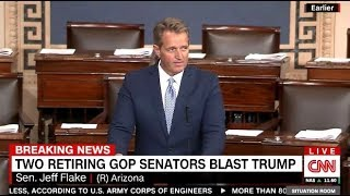 GOP Senator Jeff Flake Calls TRUMP Reckless, Outrageous & Undignified