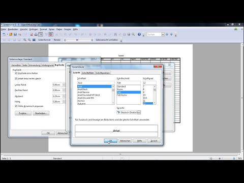 OpenOffice Calc | #01 | Tabelle erstellen (Kalender) | HD | Tutorial |
