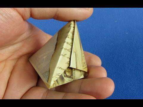 Piramide origami ( Pyramid ) Box Instructions 折り紙 折纸