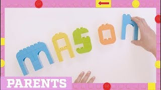 LEGO How To | Six Activities to Help your Kid Learn Their Name