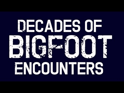Bigfoot Encounters - Collected Encounters with Bigfoot Over Several Decades