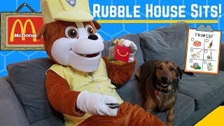 Rubble the Paw Patrol Pup Makes a Mess & Goes to McDonald's Drive Thru ~ Kid Shows