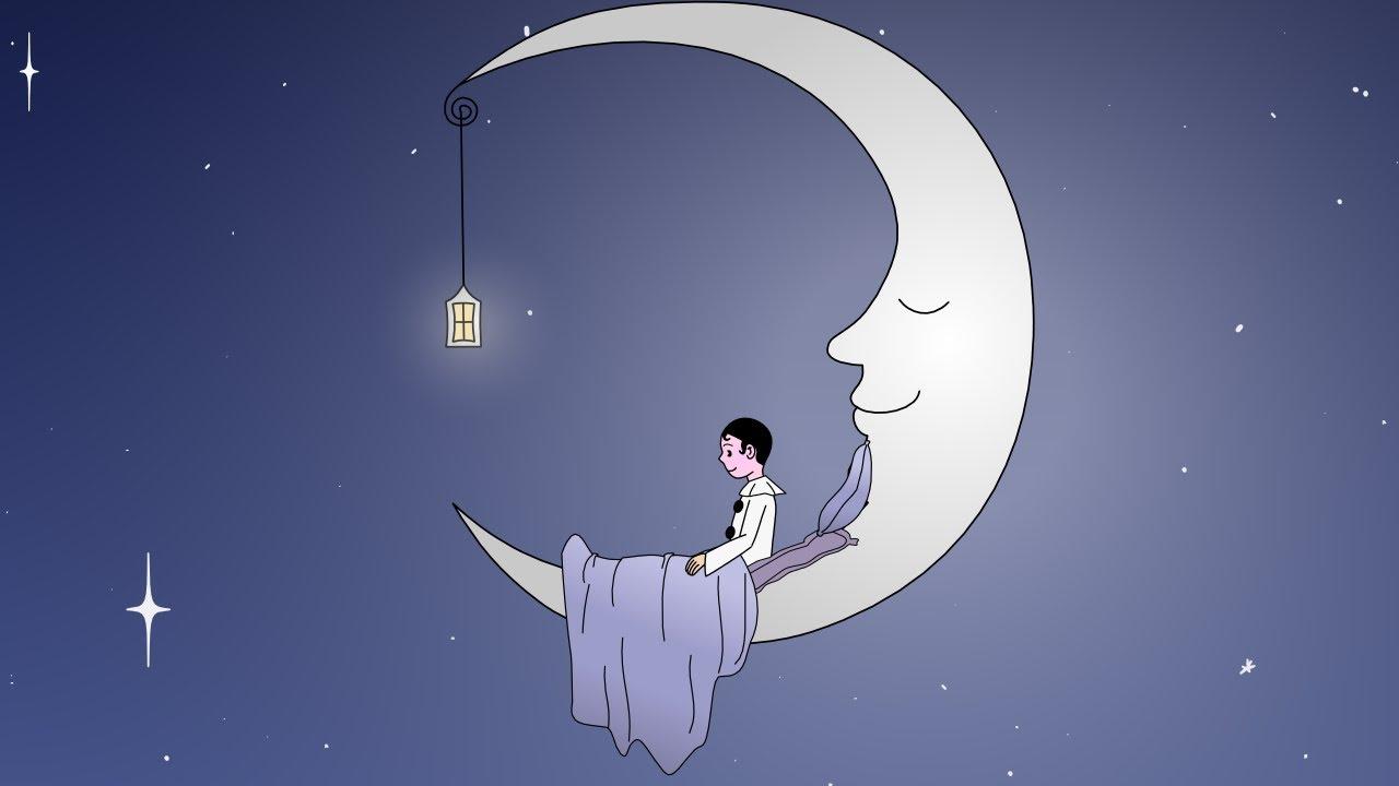 Au clair de la lune youtube - Ecolier dans la lune ...