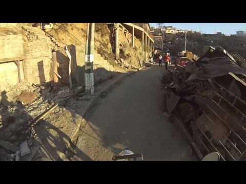 El antes y después del incendio en Valparaiso Cerro La Cruz