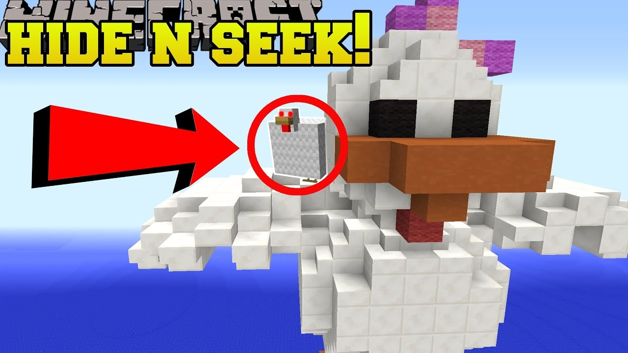 Minecraft: FAT CHICKENS HIDE AND SEEK!! - Morph Hide And Seek - Modded Mini-Game