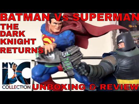 DC Collectibles The Dark Knight Returns Superman Vs Batman Battle Statue. Dc comics