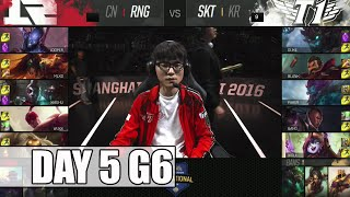 Royal Never Give Up vs SK Telecom T1 | Day 5 Mid Season Invitational 2016 | RNG vs SKT G2 MSI 1080p