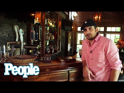 Take a Tour of Brad Paisley's At-Home Bar - PEOPLE