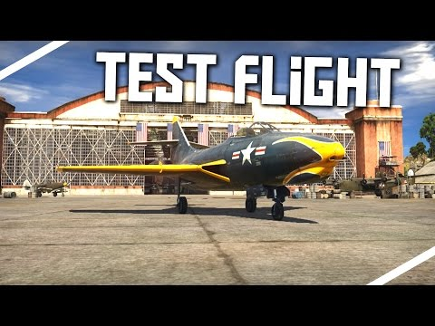 F9f 8 war thunder gameplay trailer - video