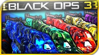 NEW DLC 5 PACK-A-PUNCH CAMOS GAMEPLAY! BO3 Topaz, Garnet, Sapphire, Emerald, Amethyst Camo Gameplay