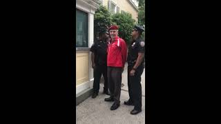 Curtis gets arrested trying to serve de Blasio