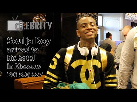 Soulja Boy arrived to his hotel in Moscow, 27.03.2015