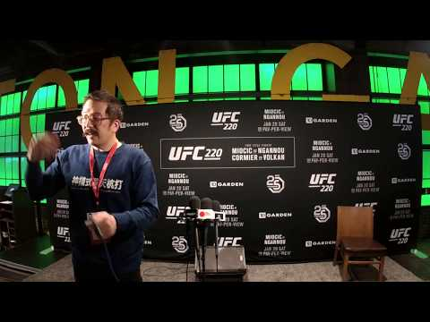 UFC 220 interviews with fight night winners and special guests fighters.