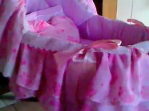 Como forrar moises para ni a youtube - Cajas decoradas para bebes ...