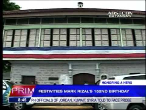 Festivities mark Rizal's 152nd birthday