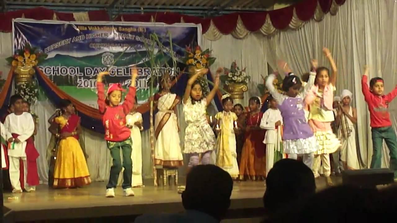 national integration dance by jvs school students