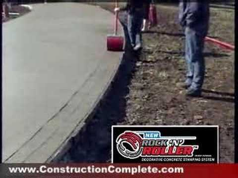 Rock N Roller Concrete Stamping System Youtube