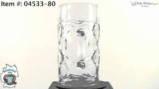 Stolzle 1 Liter Dimpled Glass Beer Stein
