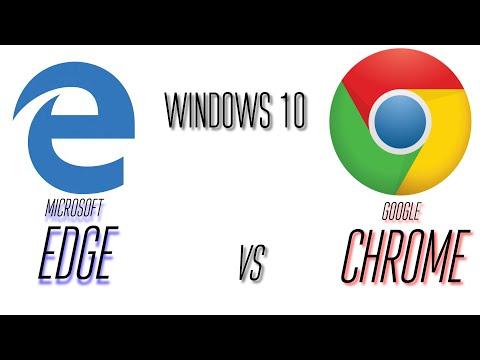 Microsoft Edge vs. Google Chrome on Windows 10!