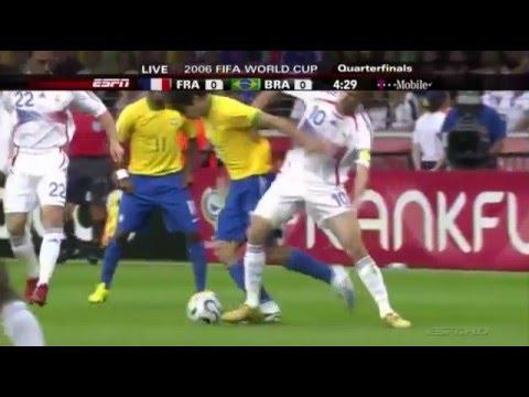 Zinedine Zidane vs Brazil World Cup 2006