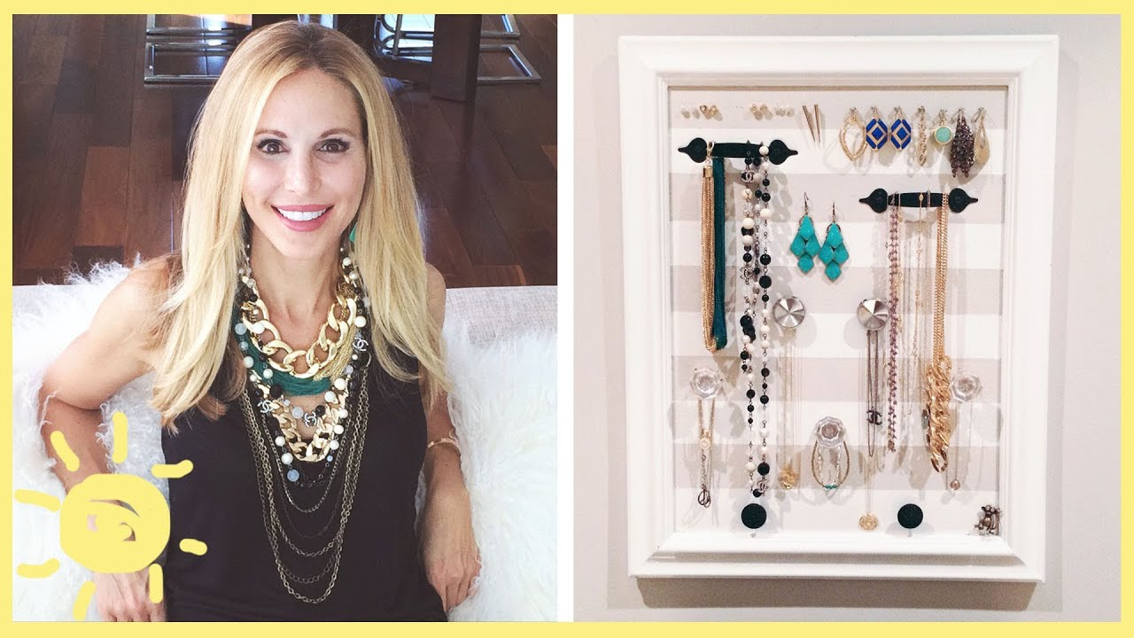 Diy Jewelry Organizer Cute And Easy Youtube