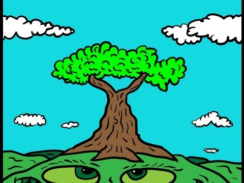 Drawing Ideas for Kids #569 How to Draw a Cartoon Tree