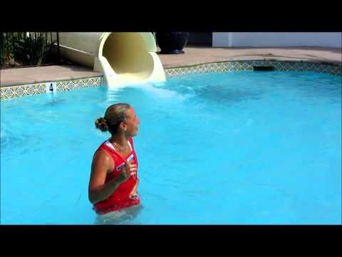 2012 Mercury Insurance Open Champion Dominika Cibulkova- Victory Waterslide!