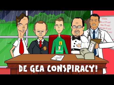 👹David De Gea Transfer -CONSPIRACY THEORY!👹(Man Utd Paperwork Real Madrid Funny Cartoon)