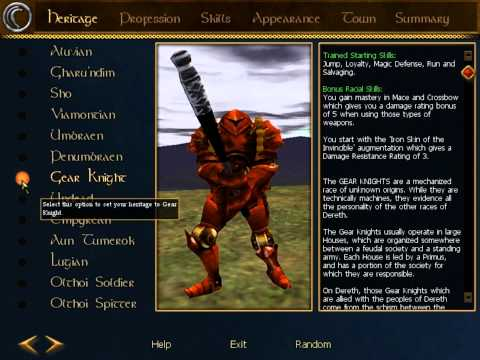 Return to Asheron's Call - Video 1 - Creating a New Character on the Darktide Server