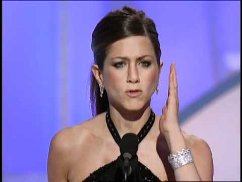 Jennifer Aniston Wins Best Actress TV Series Musical Or Comedy - Golden Globes 2003