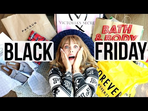HUGE BLACK FRIDAY HAUL 2017! | Forever21, Pink, Pacsun, Steve Madden + More!