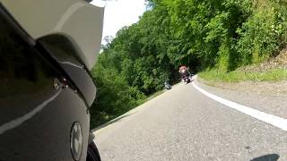 Deals Gap Tail of the Dragon BMW K1300S following Harley Davidson BMW Motorrad