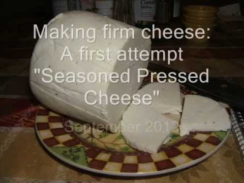Making Goat's cheese in a press