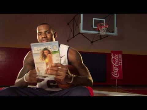 Coca Cola Commercial w/ LeBron James & Natalie Coughlin