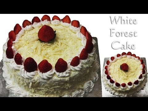White Forest Cake - Cooker Cake. Eggless-Without Condensed Milk. Eggless Baking Without Oven