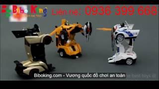 Ô tô biến hình robot siêu nhân transformer có điều khiển từ xa