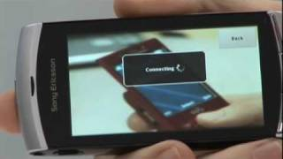 How to load and opperate the web browser on the Sony Ericsson Vivaz handset