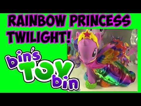 My Little Pony Giant Rainbow Princess Twilight Sparkle! Review By Bin's Toy Bin video