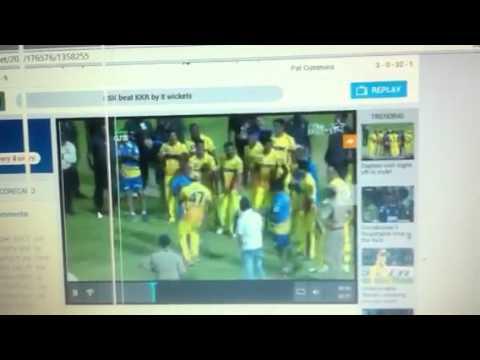 Raina And Dwayne Bravo Danc On Lungi Dance Aftr Win D Final video