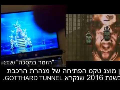 Gotthard vase tunnel illuminati open ceremony and Eurovision 2019 Satan celebration