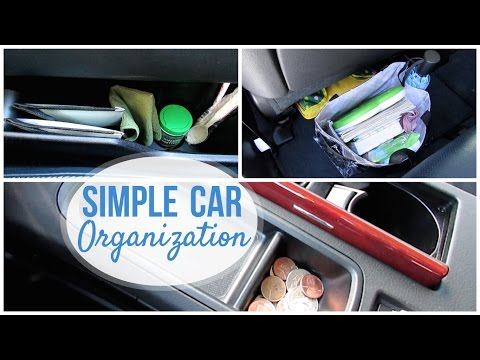SIMPLE CAR ORGANIZATION   Dollar Tree + Thrifted!